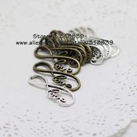 Wholesale 40pcs/lot 13*39mm Two Color Alloy Infinite Symbol Love Jewelry Connectors for Bracelets 7145