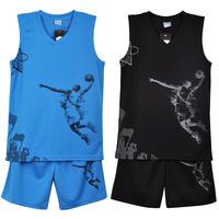 Child basketball clothes set vest shorts jersey training suit jersey