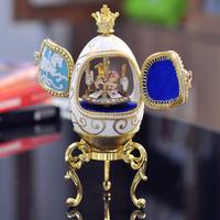 Royal egg carving music box carousel music box birthday gift wedding souvenir gifts romantic gift girlfriend