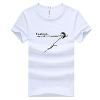 Free shipping  Printed cotton short-sleeved t-shirt men T-shirt school uniforms M-XXL