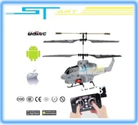 12PCS/lot  i-Helicopter 3.5ch Udirc U809A Fire Missile Remote Control rc helicopter Control by iPhone Androld Ipad Ipod boy toy