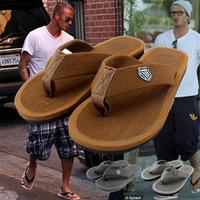2014 freeshipping Summer male flip flops bakham hot-selling sandals slippers with slip-resistant