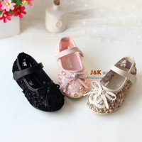 2014 spring children shoes female child lace bow children princess shoes single shoes