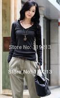 2014 New Women Shirt Korean Lady Cotton Shirt Big Size Available