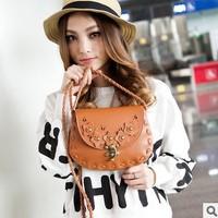 The new 2014 female bag Camellia LvKong knitting single shoulder bag Restoring ancient ways is inclined shoulder bag