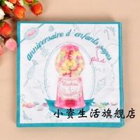 Multicolour table napkin paper tissue print table napkin paper tissue table napkin paper wedding ring c19