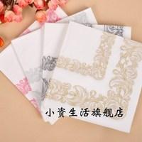 Multicolour tissue print table napkin paper wedding tissue facial tissue paper brief b155-b158