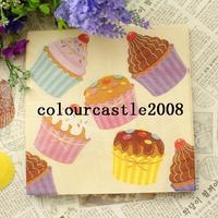 Multicolour table napkin paper multicolour tissue print table napkin paper tissue facial tissue paper cake