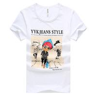 Free shippingSolid color short-sleeved T-shirt men Korean Slim Men's short sleeve t-shirt M-XXL