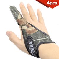 Hot sale 2014 4pcs/lot Non slip Fishing Glove Single-finger Gloves Adjustable Elastic Fishing lure Fashion ST28  wholesale