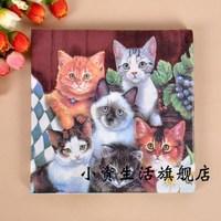Multicolour print table napkin paper tissue facial tissue paper wedding tissue cat c6