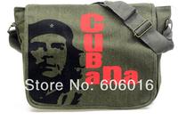 one piece Fashion Canvas Cuba Head Portrait Polyester Leisure Unisex Messenger Bags Free Shipping!p1006