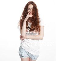 The new summer 2014 female fashion designer couple short sleeve T-shirt 208599 free shipping