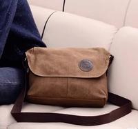 Man  canvas  male commercial handbag shoulder  casual  messenger  briefcase fashion bag