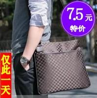 2014 man  watercubic check man  trend shoulder  messenger  business  casual  bag