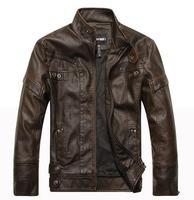 brand motorcycle genuine leather clothing ,men's leather jacket,Free shipping,2014 new fashion 8805