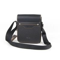 Male fashion casual  vertical commercial small  PU  shoulder  messenger  man  black bag