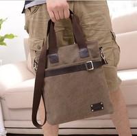 Vintage 2013 male  man commercial messenger  student  male shoulder  canvas  casual  bag