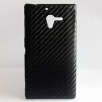 Black Deluxe Carbon Fiber Pattern  Hard SKIN CASE COVER MASK FOR  Sony Xperia ZL L35h