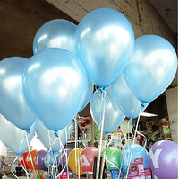 Free Shipping 200pc/Lot 10 Inch 1.5g Light Blue Latex Helium Balloons Event & Party Supplies Wedding Decoration Balloons