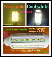 FedEX Free shipping 20pcs E27 E14 B22 15W SMD 5630 60 LED 110-240V high power LED corn bulb SMD lamp Maize Light warm/cool white