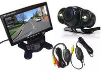 "Wireless 2 LED Reversing Backup Parking Camera 170 Degree + 7"" LCD TFT Monitor Car Rear View Kit"