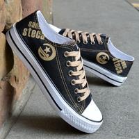 2014 Male canvas shoes low-top   lacing shoes color block decoration fashion skateboarding shoes breathable single shoes