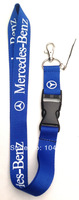 Free shipping 30 pcs Auto Car Mercedes-Benz Logo Style Blue Color cell phone straps,keychain,mobile phone lanyard