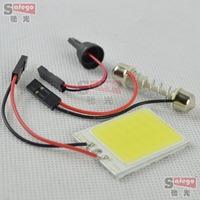 10pcs 12V White 4W 24 SMD Car Interior COB LED panel T10 COB chip Festoon dome 2 Adapters auto car COB LED panels reading light