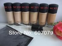 Free HK POST 1PC brand makeup liquid Foundation Studio fix fluid SPF 15 Foundation 30ML 6 color (NC15,NC20,NC25,NC30,NC35,NC40)