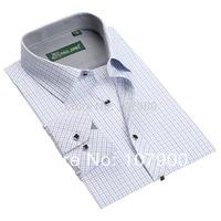 2014 New Plaid Fashion Mens Shirt Dress Shirts Business Shirt for Men High Quality Plus Size 5601