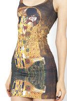 RESUN KNITTING Der Kuss Dress Gustav Klimt painting 2014 spring digital print vest one-piece dress for women Drop shipping