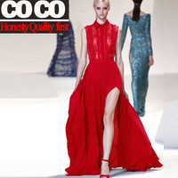 free shipping 2014 new arrival spring summer lace and chiffon party evening women cocktail dresses sweetheart dresses A930