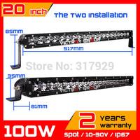 100w CREE  LED Light  Bar 10-30v Spot IP67 adjustable bracket SUV Truck  ATV Fog Light Auto Offroad CREE LED Work Light 2014 New
