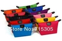 Free Shipping+Wholesale fashion cosmetic bag nylon storage bag foldable purse pouch case makeup bag,100pcs/lot