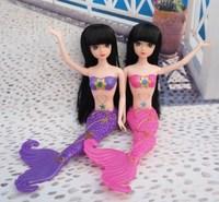 Free shipping mermaid princess mermaid doll hair supple East