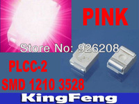 Free Shipping(2000 pieces/lot) Pink PLCC-2 1210/3528 SMD/SMT LED  Lamp
