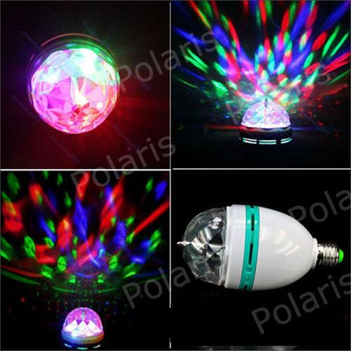 3W RGB DJ Stage Lighting Bulb Disco Crystal Ball Lights E27 E26 B22 Base Lamp RGB LED lamp christmas lights with retail package(China (Mainland))