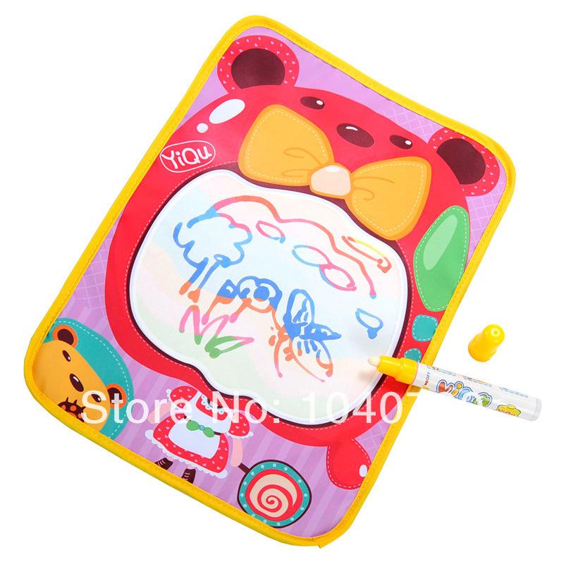 Kid/Baby four color magic water, Painting blanket, Magic water write Mat, Drawing Game, Mat+water Pen,36cm x26CM(China (Mainland))
