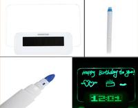Free Shipping The Best Gift Digital Message Board Clock Alarm Temperature Calendar Timer Green Light