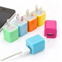 Free Shipping Colorful EU&USA Plug Home Wall Charger Power Adapter For iPhone 3GS 4G 4S 5S