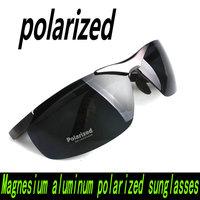 Hot!! 2014 New  6806 Mens Sunglasses Brand Magnesium aluminum alloy explosion-proof men's polarized sunglasses