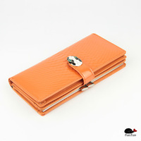 Patent Leather Real women's Crocodile pattern long section of the card wallet lady purse fashion Clutch Bag cow