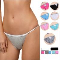 Free shipping 1 pcs/lot cotton sexy women's thong underwear women G-String briefs women Size S/M/L