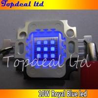 50pcs/lot High Quality LED 10W 10 Watt Royal Blue High Power LED beads Light Lamp Chip 450-455nm for fish tank