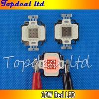 2pcs/lot 10Watt 10W red High Power Bright LED Bulb 10W plant  red Lamp Light 620630NM led