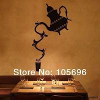 FREE SHIPPING Teapot decals wall decor art Murals home stickers vinyl islamic design FR36 33*55cm
