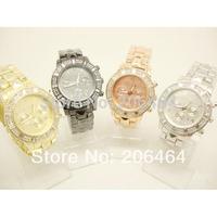 New style Mnichael watch, fashion luxury watch, 5pc/lot Free Shipping high quality unisex diamond watch--Sliver