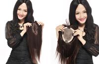 Free  100% H HAIR  woman toupee 12x14cm  hair length 16inch
