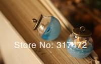 Free ship!10set/lot 20mm ball 12mm open Glass Bubble vial glass globe with base finding set glass bubble DIY vial pendant